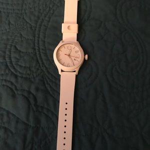sad to let it go cute woman's Esq Movado watch